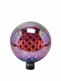 "10"" Glass Gazing Globe - Purple with Diamond Pattern by Alpine Corp"