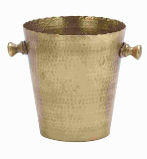 """10"""" H Attractive Metal Wine Cooler with Bucket Style Design Brand Woodland"""