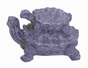 "10""H Ceramic Double Turtle in Distinct Weathered Finish Brand Woodland"