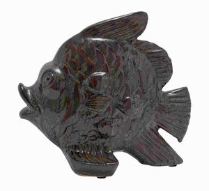 "10"" H Ceramic Fish with Glossy and Smooth Polished Surface Brand Woodland"
