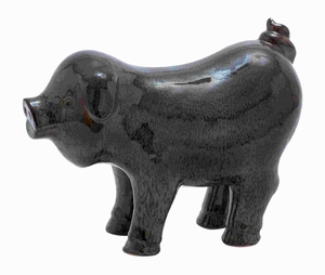 """10"""" H Ceramic Pig with Glossy Surface and Bright Colors Brand Woodland"""