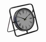 "10""H Metal Clock with Bright Dial and Roman Numeral Display Brand Woodland"