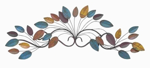 "10""H Metal Leaf Wall Decor with Polished Non Corrosive Surface Brand Woodland"
