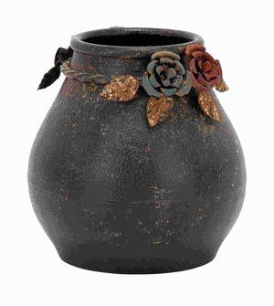 """10""""H Metal Vase with attractive Contours and Smooth Curves Brand Woodland"""
