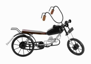 "10""H Metal Wood Motorcycle Expertly Crafted Miniature Motorcycle Brand Woodland"