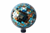 "10"" Mosaic Gazing Ball Blue/Amber by Alpine Corp"