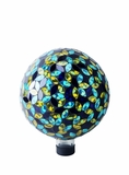 "10"" Mosaic Gazing Ball Blue/Yellow by Alpine Corp"