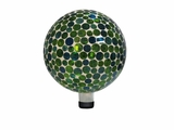 "10"" Mosaic Gazing Ball - Green by Alpine Corp"