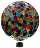 "10"" Mosaic Gazing Ball - Red/Blue/Yellow by Alpine Corp"