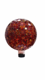 "10"" Mosaic Gazing Ball - Red/Yellow by Alpine Corp"