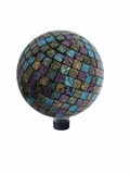 "10"" Purple/ Blue/Yellow Mosaic Gazing Globe by Alpine Corp"