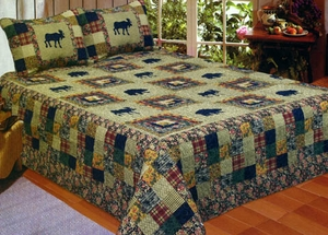 100% Cotton Moose Medley Sham with Moose Pattern by American Hometex
