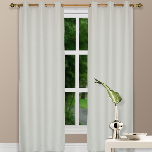 buy 108 ivory grommet top thermal curtain w blackout