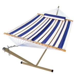 11' Fabric Hammock, Pillow, and Stand Combination by Alogma
