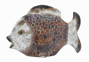 "11""H Antique Ceramic Fish with Gorgeous Contemporary Design Brand Woodland"