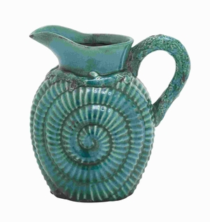 """11""""H Classic Ceramic Pitcher Accented with a Distinctive Pattern Brand Woodland"""