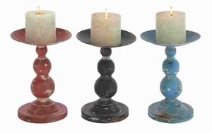 """11""""H Metal Candle Holder Assorted Sturdy and Durable (Set of 3) Brand Woodland"""