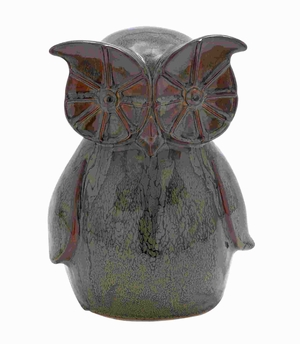 "11"" H Unique Ceramic Owl with Glossy Design and Smooth Texture Brand Woodland"