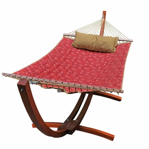 12' Arc Stand and Fabric Hammock with Pillow by Alogma