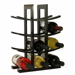 12-Bottle Dark Espresso Bamboo Wine Rack by Oceanstar
