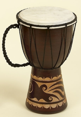 "12"" Djembe Toca Wood / Leather African Drum Brand Woodland"