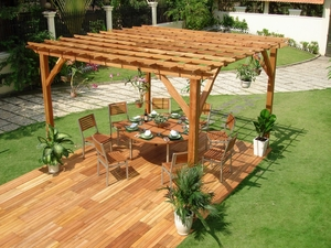12 FT x 12 FT English Garden Pergola by Vifah