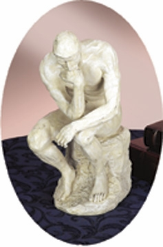 "12"" Great Thinker Ivory Statue Sculpture Crafted in Polyresin Brand Woodland"