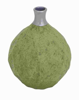 "12""H Ceramic Bottle Vase in Unique Shape and Attractive Design Brand Woodland"