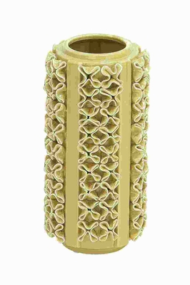 """12""""H Ceramic Vase in Light Green Color and Glossy Finish Brand Woodland"""