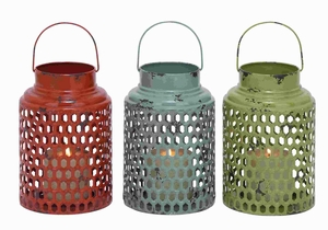 "12"" H Metal Candle Holder 3 Assorted with Lantern Design Brand Woodland"