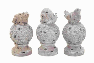 "12"" H Unique Poly Stone Animals in Creative Design (Set of 3) Brand Woodland"