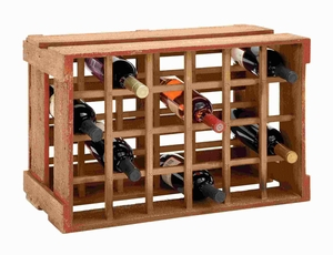 "12""H Wood Wine Holder with Many Bottle Holders and Long Lasting Brand Woodland"