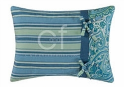"12"" X 16"" Striped Pillow, Oceana Paisley Brand C&F"