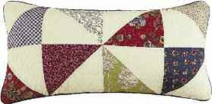 "12"" X 24"" Patchwork-Pillow Pillow, West-Point Brand C&F"