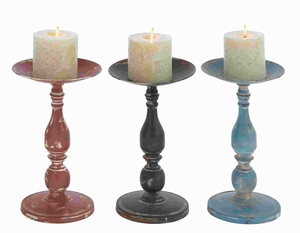 "13""H Metal Candle Holder Assorted Sturdy and Durable (Set of 3) Brand Woodland"