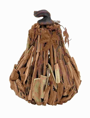 """13""""H Wood Gourd with Lightweight Unique and Creative Design Brand Woodland"""
