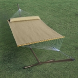 13' Quick Dry Tanned Hammock with Pillow by Alogma