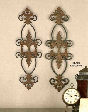 13387 Lacole Set/2: Metal Wall Art With Difference Brand Uttermost