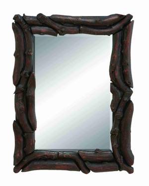 "13931 Wood Mirror 32""H, 23""W- Wall Decor With A Purpose Brand Woodland"