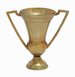 "14"" H Aluminium Trophy Vase with Trophy Design & Golden Finish Brand Woodland"