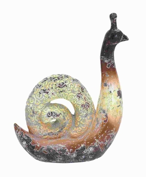 "14""H High Quality Ceramic Snail with Archaic and Timeless Appeal Brand Woodland"