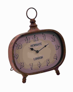 "14""H Metal Clock in Versatile Style with Minimalist Design Brand Woodland"