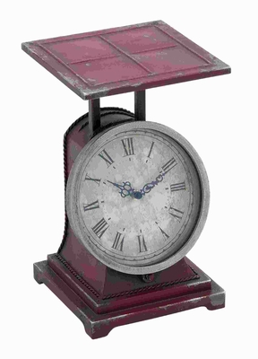 "14""H Metal Scale Decor Clock in Classical Style and Charm Brand Woodland"