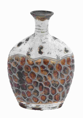 """14""""H Pot Shaped Ceramic Vase with Broad Base and Narrow Opening Brand Woodland"""