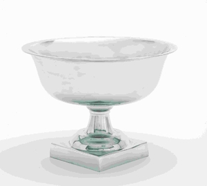 "14"" H Traditional Aluminium Pedestal Bowl Silver Finish Brand Woodland"
