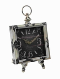 "14"" Metal Clock with Square Shaped Dial in Intricate Design Brand Woodland"