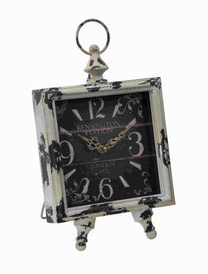 """14"""" Metal Clock with Square Shaped Dial in Intricate Design Brand Woodland"""