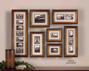 14459 Newark Photo Collage Set/7: Personalize Home Decor Brand Uttermost