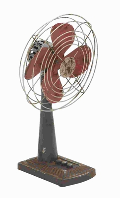 "15""H Classic Designed Metal Fan Dcor in Rustic Appearance Brand Woodland"