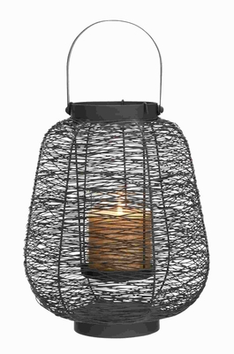 "15""H Metal Lantern Timeless and Durable Design with Hanging Loop Brand Woodland"